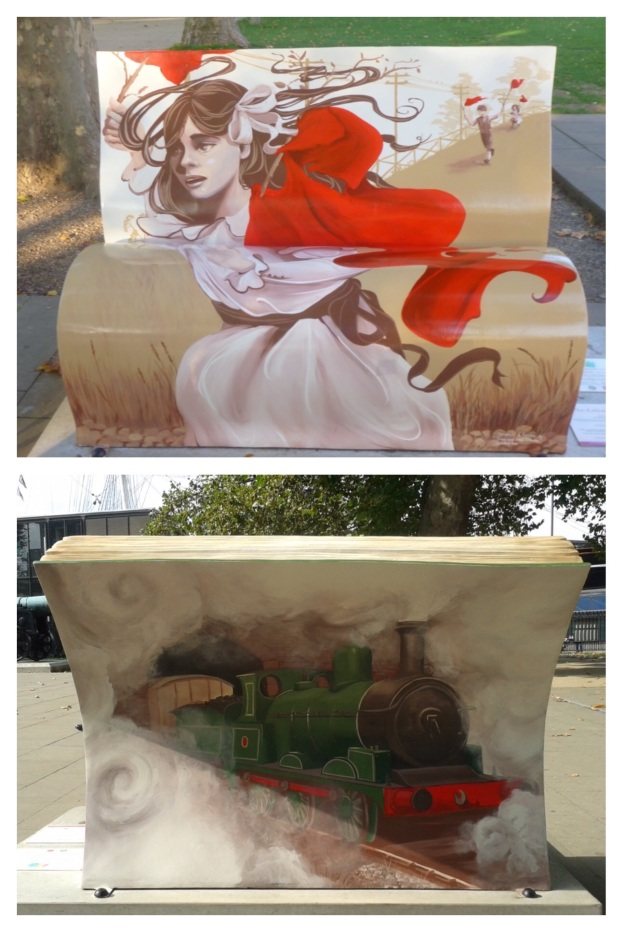 The Railway Children Books About Town bench - Greewnwich 2014